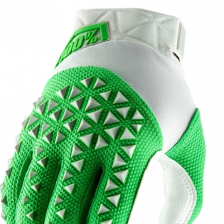 100% Airmatic Silver Fluo Lime Gloves Image 2