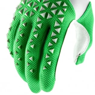 100% Airmatic Silver Fluo Lime Gloves Image 4