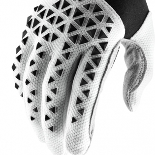 100% Airmatic Black White Silver Gloves Image 4