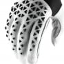 100% Airmatic Black White Silver Gloves