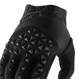 100% Airmatic Kids Black Charcoal Gloves Image 2