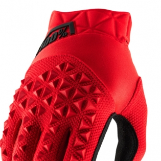 100% Airmatic Kids Red Black Gloves Image 2