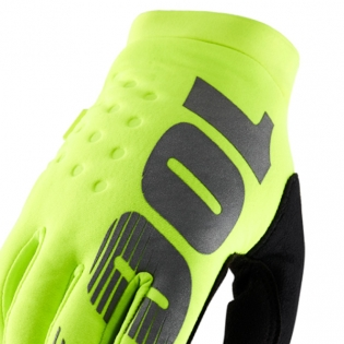 100% Brisker Kids Neon Yellow Cold Weather Gloves Image 2
