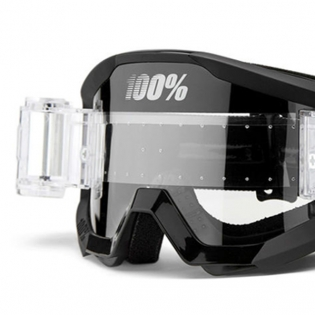 100% Strata Outlaw SVS Clear Lens Mud Goggles Image 2