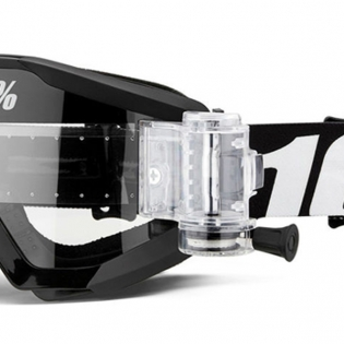 100% Strata Outlaw SVS Clear Lens Mud Goggles Image 4