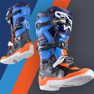 Alpinestars Kids Tech 7S Ltd Ed Magneto Anth Orange Cyan Boots Image 2