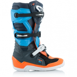 Alpinestars Kids Tech 7S Ltd Ed Magneto Anth Orange Cyan Boots Image 3