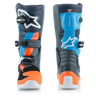 Alpinestars Kids Tech 7S Ltd Ed Magneto Anth Orange Cyan Boots Image 4