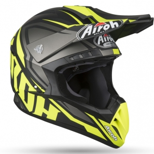 Airoh Switch Impact Yellow Matt Helmet Image 4