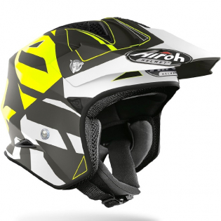 Airoh TRR Convert Yellow Matt Trials Helmet Image 2
