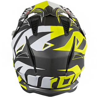 Airoh TRR Convert Yellow Matt Trials Helmet Image 3