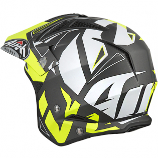 Airoh TRR Convert Yellow Matt Trials Helmet Image 4