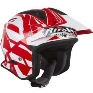 Airoh TRR Convert Red Gloss Trials Helmet Image 2