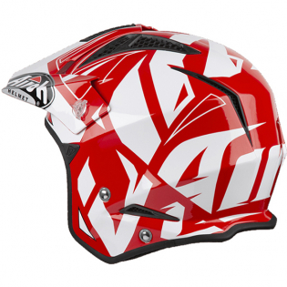 Airoh TRR Convert Red Gloss Trials Helmet Image 4