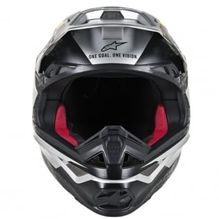 Alpinestars Supertech SM8 Contact Silver Black Helmet Image 2