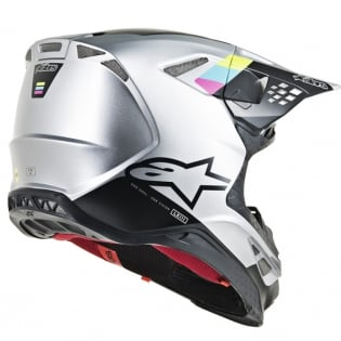 Alpinestars Supertech SM8 Contact Silver Black Helmet Image 3