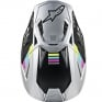 Alpinestars Supertech SM8 Contact Silver Black Helmet