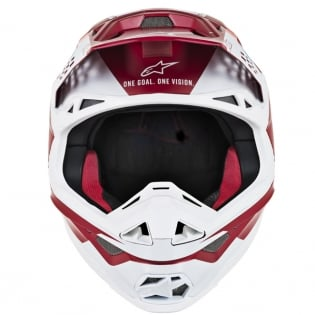 Alpinestars Supertech SM8 Contact Dark Red White Helmet Image 2