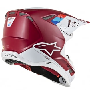 Alpinestars Supertech SM8 Contact Dark Red White Helmet Image 3