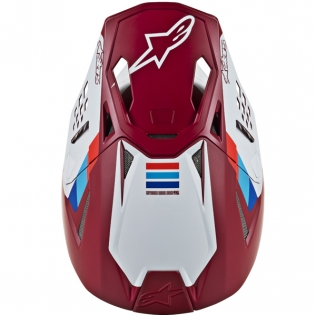 Alpinestars Supertech SM8 Contact Dark Red White Helmet Image 4