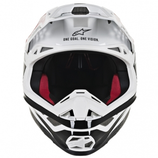 Alpinestars Supertech SM8 Triple Red White Helmet Image 2
