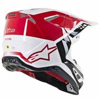 Alpinestars Supertech SM8 Triple Red White Helmet Image 3