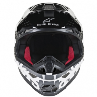 Alpinestars Supertech SM8 Radium White Black Grey Helmet Image 2