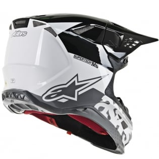 Alpinestars Supertech SM8 Radium White Black Grey Helmet Image 3