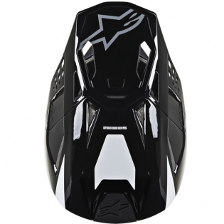 Alpinestars Supertech SM8 Radium White Black Grey Helmet Image 4