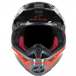 Alpinestars Supertech SM8 Radium Red Black Grey Helmet Image 2