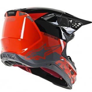 Alpinestars Supertech SM8 Radium Red Black Grey Helmet Image 3