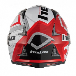 Hebo Zone 4 Fibre Patrick Red Trials Helmet Image 2