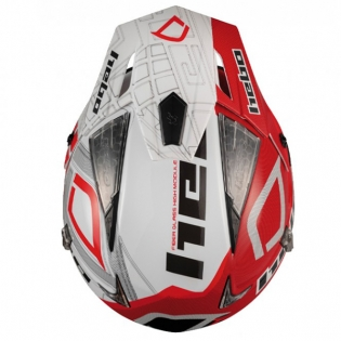 Hebo Zone 4 Fibre Patrick Red Trials Helmet Image 3