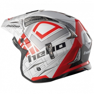 Hebo Zone 4 Fibre Patrick Red Trials Helmet Image 4