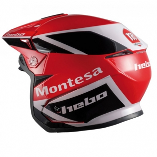 Hebo Zone 5 Polycarb Montesa Red Classic lll Trials Helmet Image 2