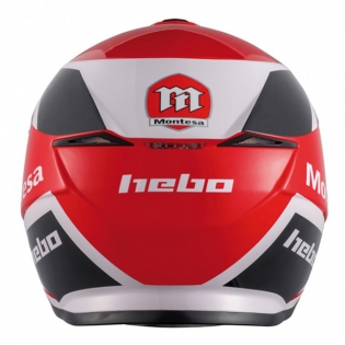 Hebo Zone 5 Polycarb Montesa Red Classic lll Trials Helmet Image 3