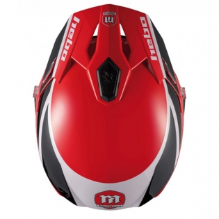 Hebo Zone 5 Polycarb Montesa Red Classic lll Trials Helmet Image 4