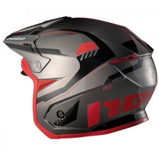Hebo Zone 5 Polycarb Pursuit Red Trials Helmet Image 2