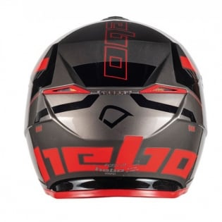 Hebo Zone 5 Polycarb Pursuit Red Trials Helmet Image 3