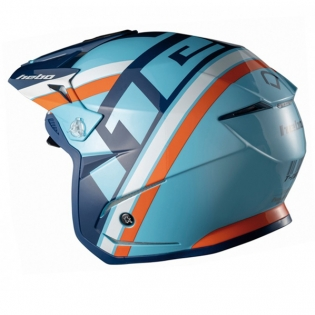 Hebo Zone 5 Polycarb T-Nine Blue Trials Helmet Image 2