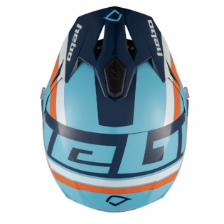 Hebo Zone 5 Polycarb T-Nine Blue Trials Helmet Image 4
