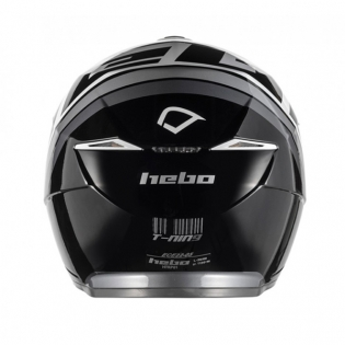 Hebo Zone 5 Polycarb T-Nine Black Trials Helmet Image 2
