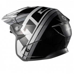 Hebo Zone 5 Polycarb T-Nine Black Trials Helmet Image 4