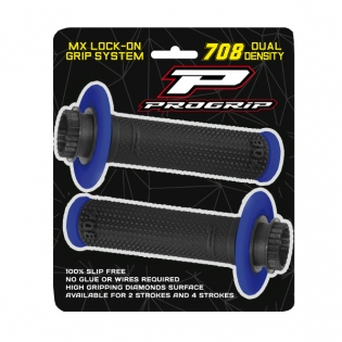 ProGrip 708 Lock On Dual Density Grips - Grey Black Image 4