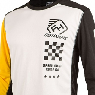 Fasthouse Icon L1 White Yellow Jersey Image 2