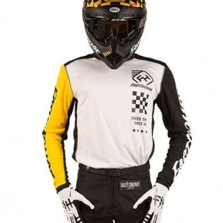 Fasthouse Icon L1 White Yellow Jersey Image 4