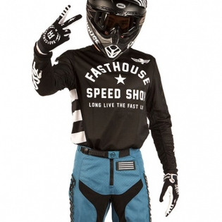 Fasthouse Originals Air Cooled L1 Black Jersey Image 2