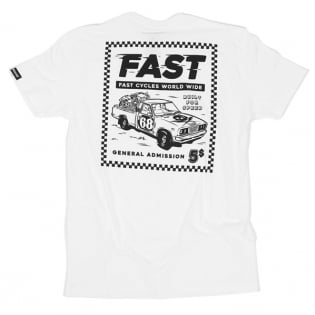 Fasthouse Ticket White T Shirt Image 3