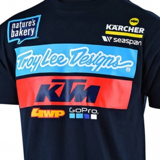 Troy Lee Designs Team KTM Navy T Shirt Image 2