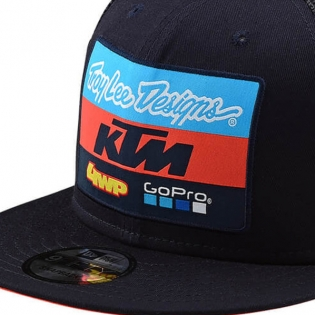 Troy Lee Designs Kids Team KTM Navy Snapback Cap Image 2